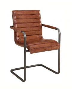 Artwood SABINA Armchair Leather Lightbrown