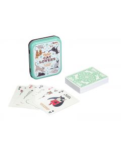 Gentlemen's Hardware Cat Lover's Playing Cards pelikortit metallirasiassa.